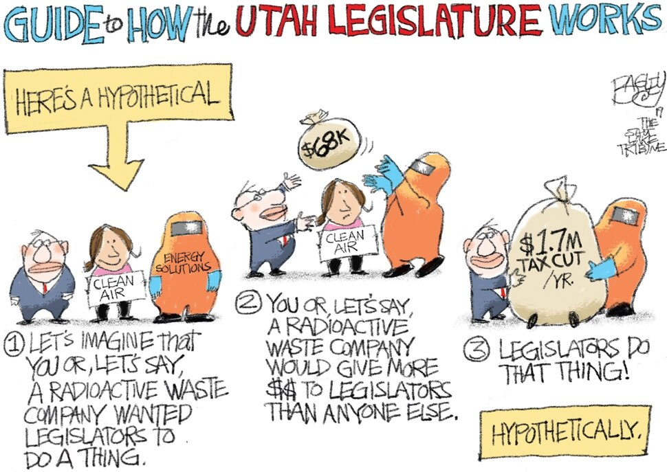 This Pat Bagley cartoon appears in The Salt Lake Tribune on Sunday, Jan. 27, 2019.