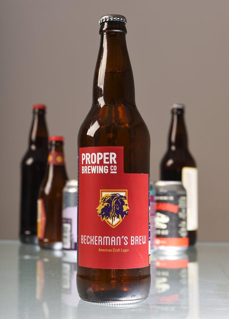 (Francisco Kjolseth | The Salt Lake Tribune) Utah's best beer names. Beckerman's Brew by Proper Brewing Co.