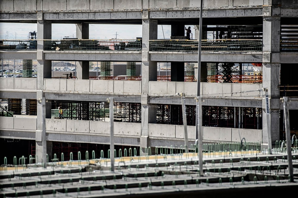 (Trent Nelson | The Salt Lake Tribune) Construction at Salt Lake City International Airport, Wednesday Sept. 19, 2018.