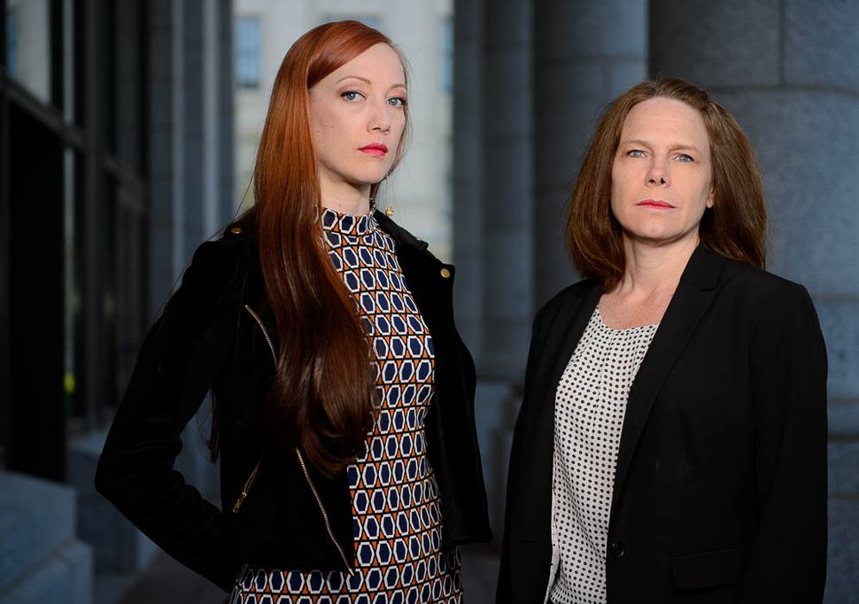 (Trent Nelson | The Salt Lake Tribune) Karen Christopherson and Vanessa Walsh in Salt Lake City, Saturday, June 2, 2018. The women say they experienced harassment in their workplace, but their office had too few employees to file a lawsuit. They testified to the Legislature about it earlier this year in an effort to change the law.
