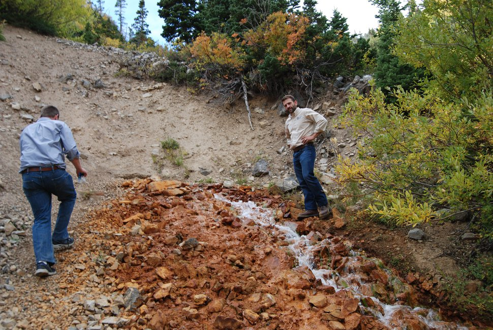 (Brian Maffly | The Salt Lake Tribune) Abandoned mines in Mary Ellen Gulch have been discharging heavy metals and acidic groundwater into American Fork Canyon for decades. A new EPA report is highlighting concerns of toxic exposure as the canyon's popularity with recreation enthusiasts has increased in recent years.