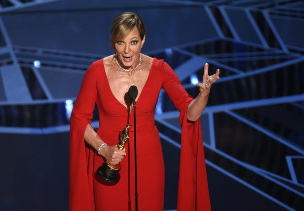 Allison Janney accepts the award for best performance by an actress in a supporting role for