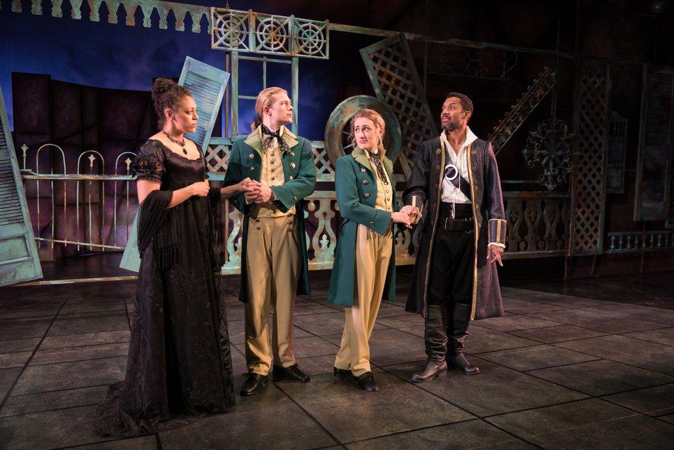 (Courtesy Pioneer Theatre Company) Actors Kelsey Rainwater (Olivia), Zach Fifer (Sebastian), Grace Morrison (Viola) and A.K. Murtadha (Orsino), who will perform in Pioneer Theatre Company's