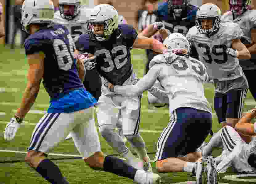 BYU has done a lot of shuffling at running back, but coaches insist they are deep and talented at the position