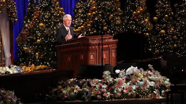"(Courtesy LDS Church) Dieter Uchtdorf, second counselor to President Thomas S. Monson, reminded the faith's nearly 16 million members that love should be what ""best describes the feelings we experience at Christmastime."""