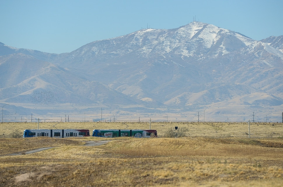 (Francisco Kjolseth | The Salt Lake Tribune) The TRAX Green Line passes the Wingpointe Golf Course, which closed in November 2015. Rep. Chris Stewart (R-Utah) announced plans to reopen Wingpointe on Tuesday, Oct. 16, 2018. Congress recently passed the Federal Aviation Administration Act, which included Stewart's language to allow Salt Lake City to reopen the golf course for public enjoyment.