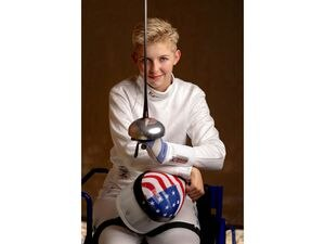 (Francisco Kjolseth | The Salt Lake Tribune) Shelby Jensen of Salt Lake City will be competing in wheelchair fencing — saber, epee and foil — in the Paralympics in Tokyo. She is ranked No. 1 in saber in the USA and No. 2 in the other two. She can stand but uses a wheelchair after having a stroke when she was 7.