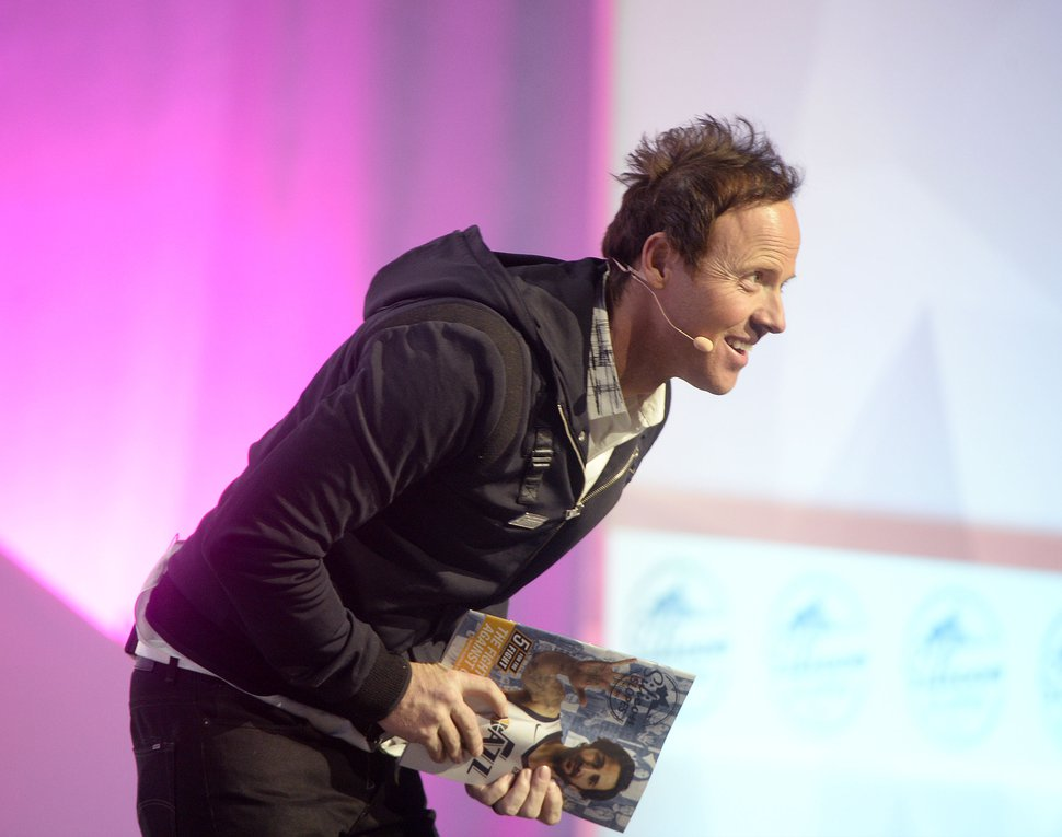 (Al Hartmann | The Salt Lake Tribune) Ryan Smith, Qualtrics, CEO speaks in the opening session to over 14,000 at the 2018 Silicon Slopes Tech Summit at the Salt Lake Convention Center Thursday Jan. 18.