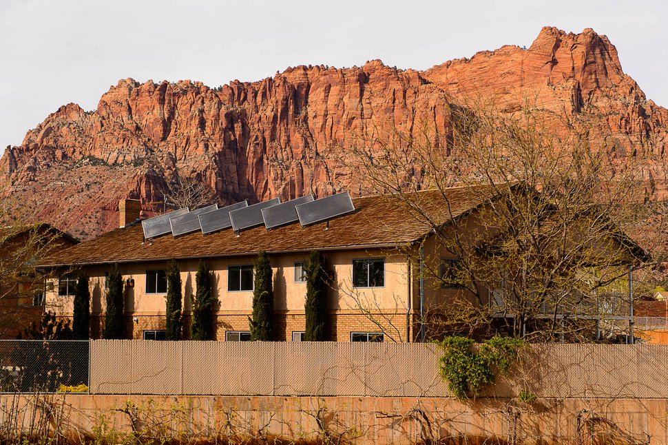 Trent Nelson | The Salt Lake Tribune A large home in the Jeffs compound in Hildale, Wednesday April 5, 2017. The UEP Trust is making plans to convert some of the town's largest homes, which previously housed large polygamous families, into apartments.