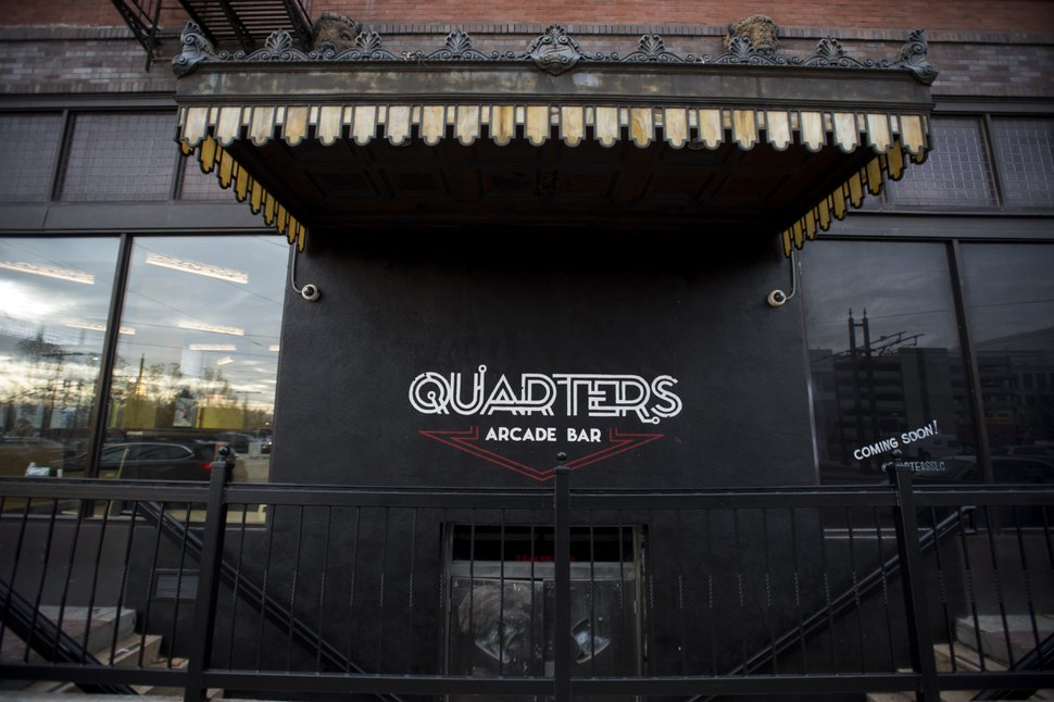(Rick Egan | The Salt Lake Tribune) The Quarters Arcade Bar soon opening on 400 south was originally The Manhattan Club.