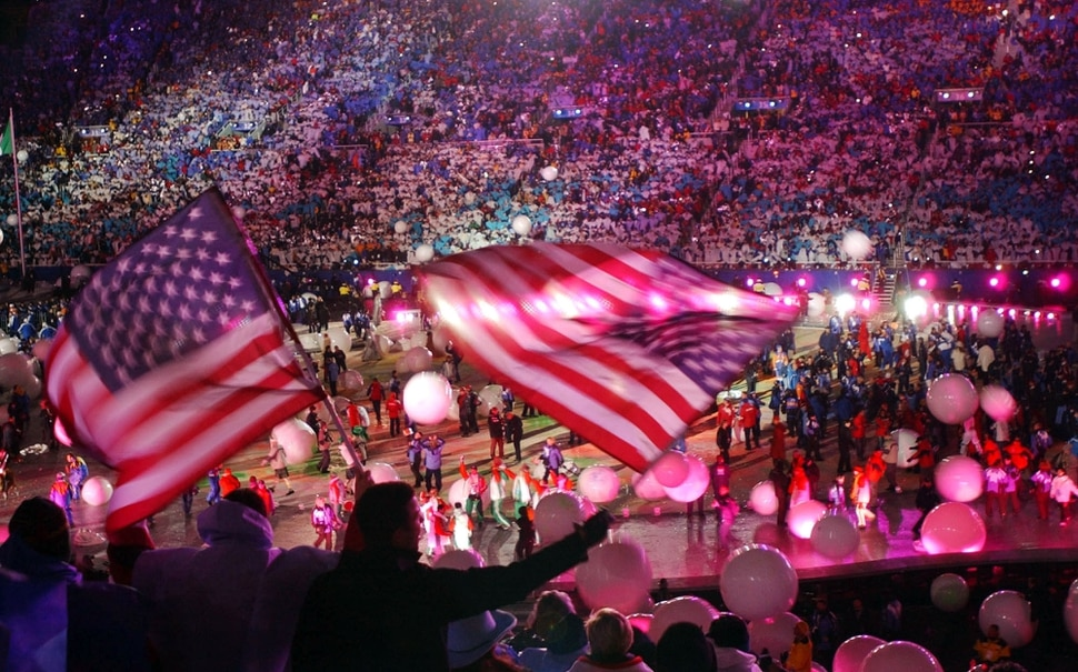 (Francisco Kjolseth | Tribune file photo) Thousands of fans and athletes celebrate the end of the 2002 Salt Lake Olympics at the dazzling Closing Ceremony at Rice-Eccles Stadium.