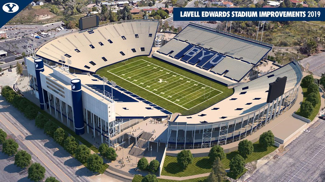 Here's what BYU's LaVell Edwards Stadium will look like when