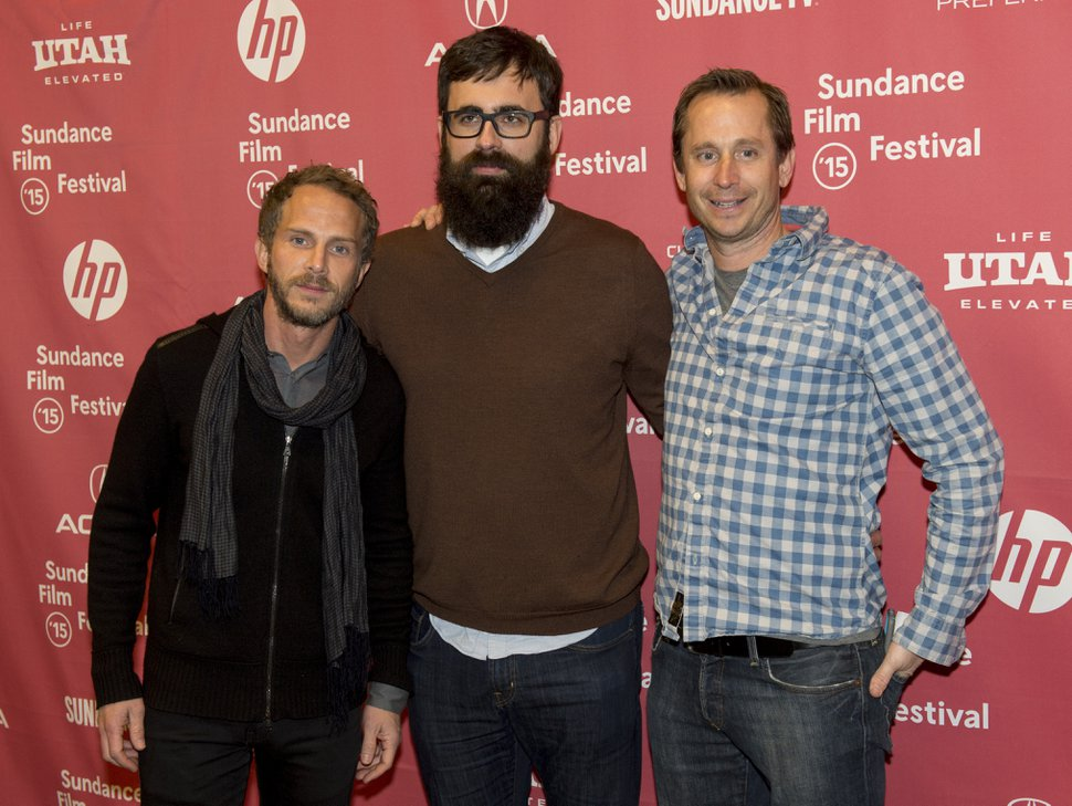 Rick Egan | The Salt Lake Tribune Producer Brant Anderson, director Jared Hess and producer Dave Hunter, at the premiere of