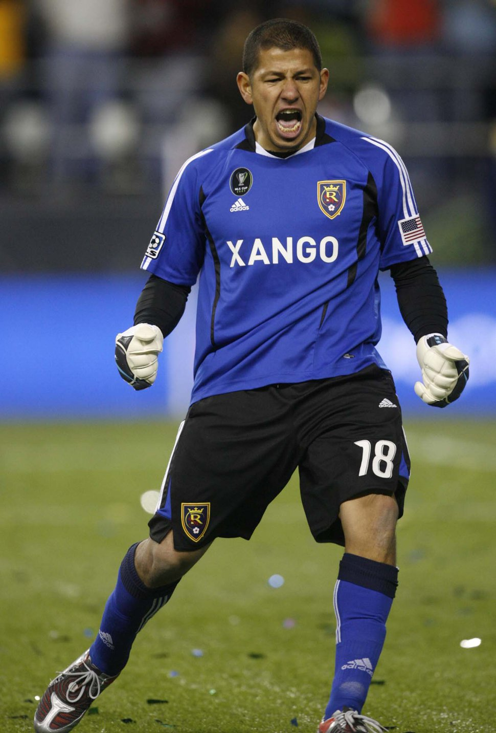 (Trent Nelson | Tribune file photo) Nick Rimando celebrates as Real Salt Lake beats LA Galaxy in the MLS Cup Sunday, November 22 2009 at Qwest Field in Seattle.