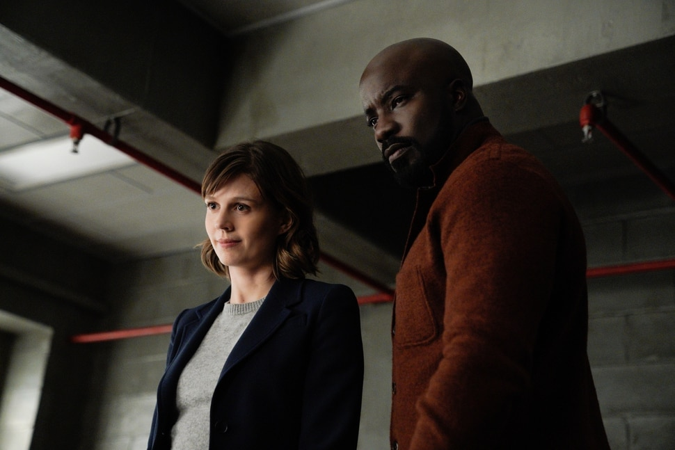 """(Photo courtesy of Elizabeth Fisher   CBS) Katja Herbers and Mike Colter star in """"EVIL."""""""