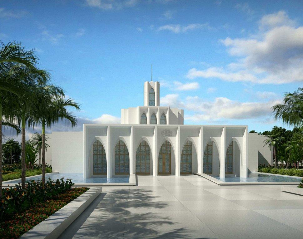 (Rendering courtesy of The Church of Jesus Christ of Latter-day Saints) Brasília Temple in Brazil.