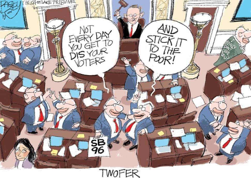 This Pat Bagley cartoon appears in The Salt Lake Tribune on Thursday, Jan. 31, 2019.