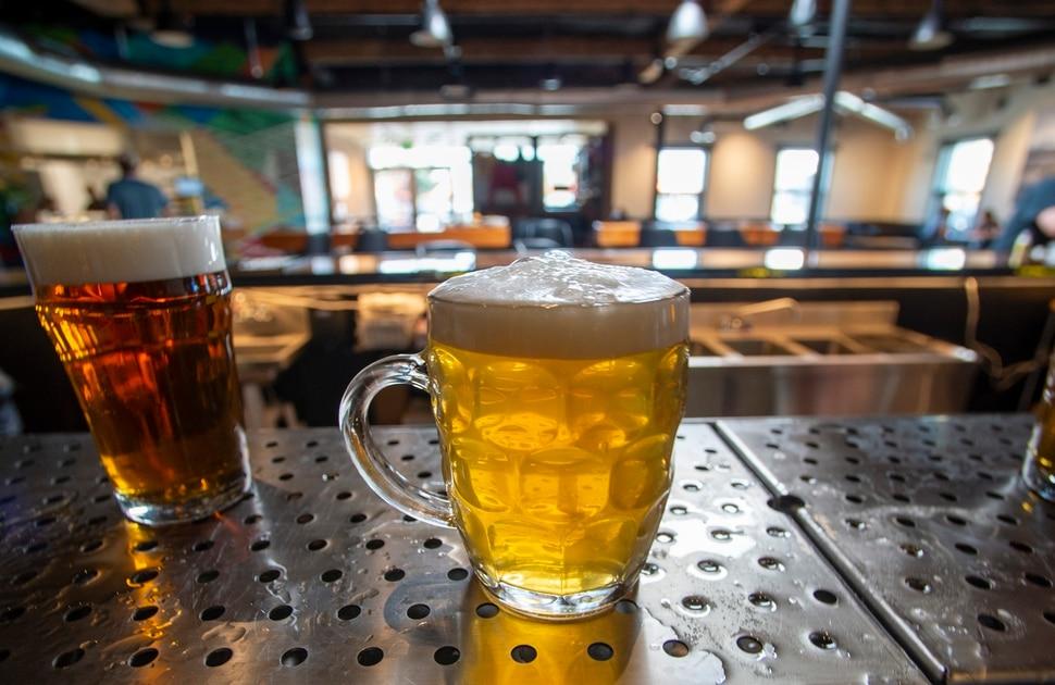 (Rick Egan | The Salt Lake Tribune) Grid City Beer Works on 2100 South in Salt lake City, Wednesday, July 8, 2020.
