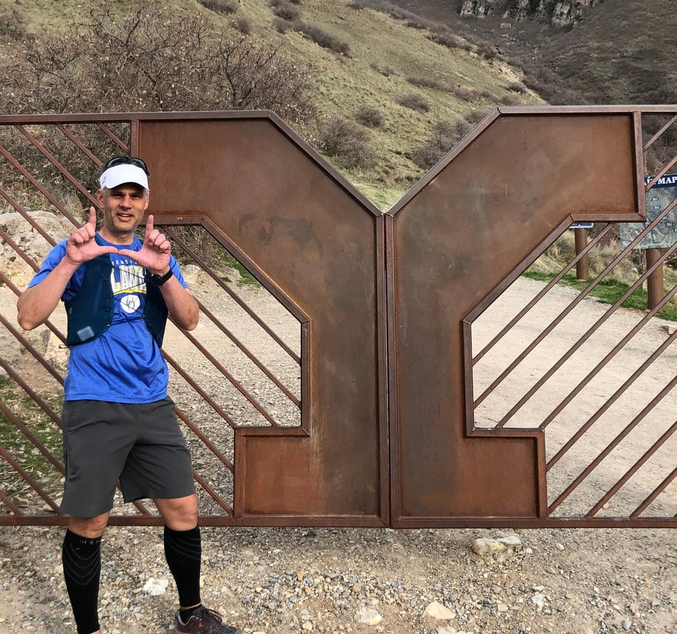 (Courtesy of Kristin Fowles) Tim Fowles didn't let the coronavirus stop him from running a 100K, but he couldn't do it without the help of his family.