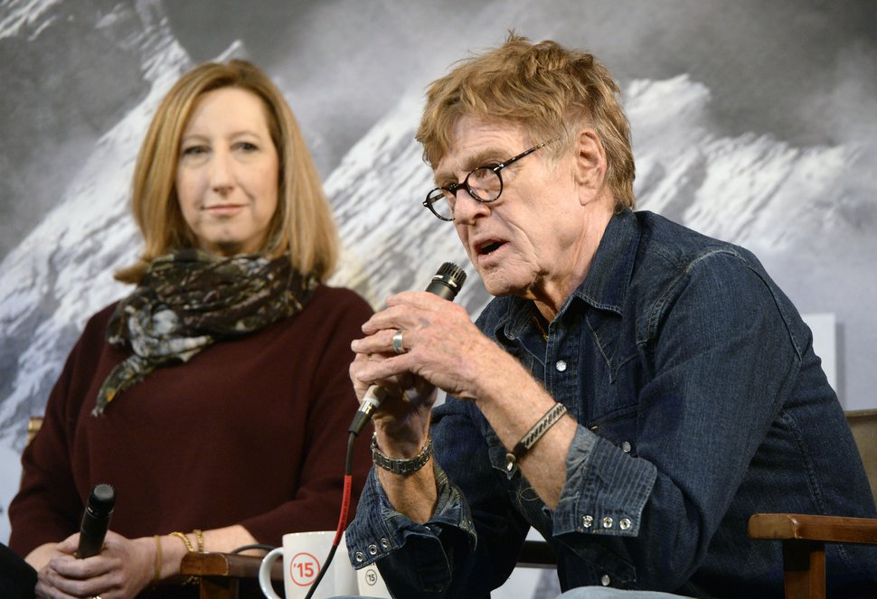 Al Hartmann | The Salt Lake Tribune Actor-director Robert Redford answers a question during an opening press conference on the first day of the Sundance Film Festival Jan. 22 at the Egyptian Theater in Park City. Sundance Executive Director Keri Putnam left.