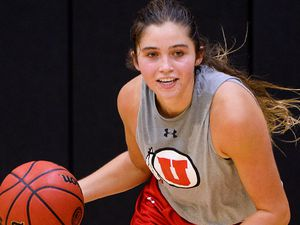 (Leah Hogsten  |  The Salt Lake Tribune)  Shown during a practice last season, sophomore guard Kemery Martin scored a career-high 25 points in Utah's win over host Arizona State on Sunday.