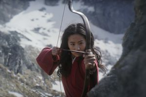 "This image released by Disney shows Yifei Liu in a scene from ""Mulan,"" opening July 24. (Disney via AP)"