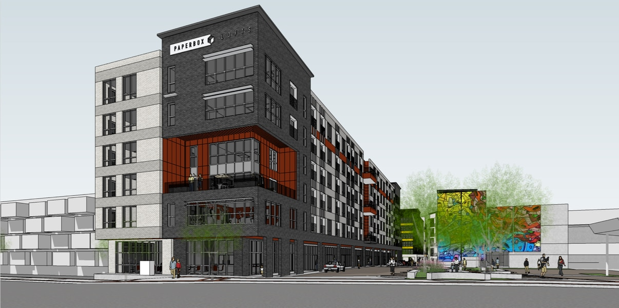 Salt Lake City S Newest Project The Paper Box Lofts Will Include 195 Apartments And An Automobile Vending Machine