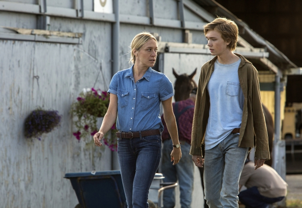 Chloe Sevigny, left, and Charlie Plummer in a scene from
