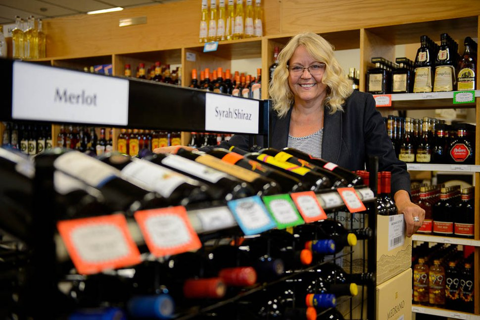 (Trent Nelson | The Salt Lake Tribune) Kirsten Park is the author of Utah Sidebar, a social media site that showcases what's on sale at Utah state liquor stores each month. She was photographed at the store in Murray, Wednesday July 18, 2018.