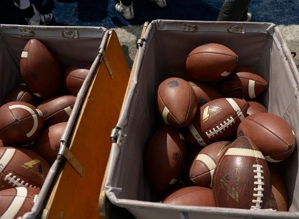 Leah Hogsten | The Salt Lake Tribune Utah State University football team's annual Blue vs. White Spring Game, Saturday, April 8, on Merlin Olsen Field at Maverik Stadium.