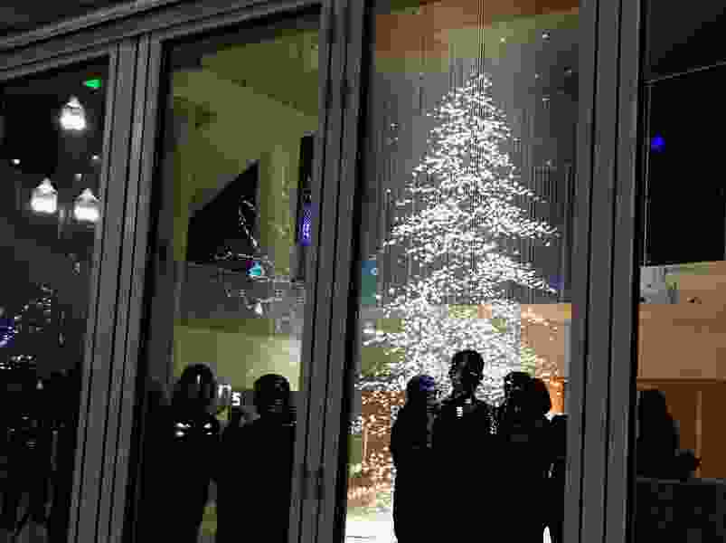Christmas lights switch on at Temple Square, while a new holiday tradition lights up at Eccles Theater