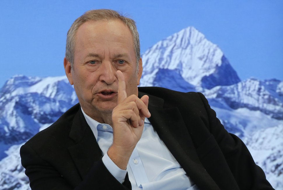 U.S. economist Larry Summers speaks during a panel on the second day of the annual meeting of the World Economic Forum in Davos, Switzerland, Wednesday, Jan. 18, 2017. (AP Photo/Michel Euler)
