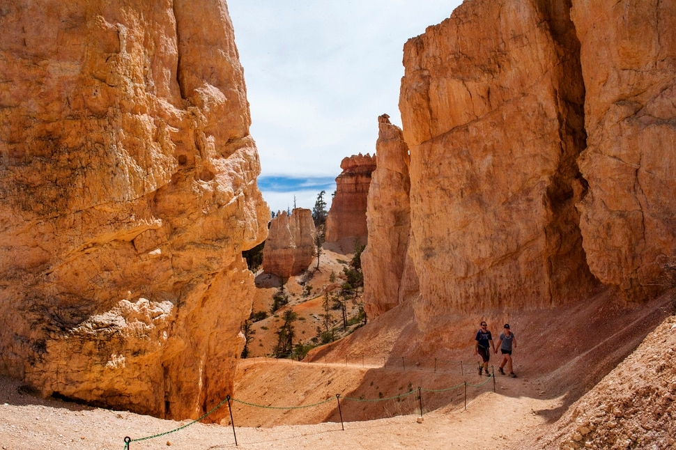 (Rick Egan | The Salt Lake Tribune) The Paul and Marie Grenwood hike along the Fairyland Trail in Bryce Canyon National Park, Wednesday May 6, 2020