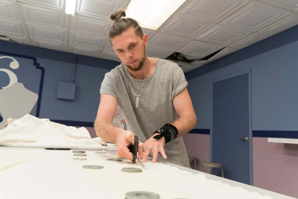 "(Photo courtesy of Barbara Nitke/Lifetime) Murray native Brandon Kee is among the finalists in Season 16 of ""Project Runway."""
