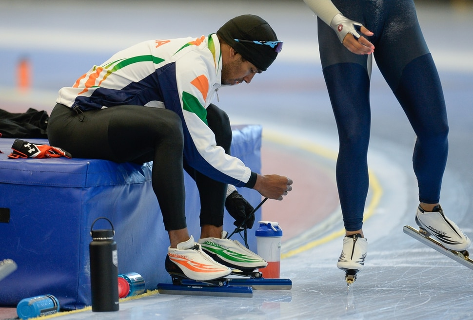 (Francisco Kjolseth | The Salt Lake Tribune) Stephen Paul, a speedskater from India, is trying to become the first person ever from his country in his sport to qualify for the Winter Olympics in PyeongChang 2018, South Korea. Training 6-8 hours a day, 6-days a week, Paul moved to Salt Lake City four and half years ago to train at the Olympic Oval in Kearns after showing his talent for in-line skating at the age of 8.
