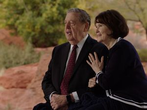 (Photo courtesy of The Church of Jesus Christ of Latter-day Saints) A screenshot of apostle Jeffrey R. Holland and his wife, Patricia, from their RootsTech Connect broadcast during Family Discovery Day on Feb. 27, 2021.