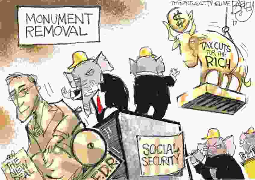 Bagley Cartoon: Monument Removal