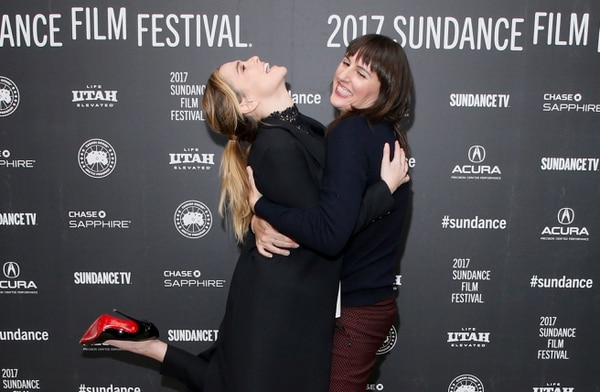 Actress Zoey Deutch, left, and director Ry Russo-Young, right, pose at the premiere of