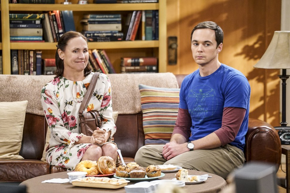 (Photo courtesy of Monty Brinton/Warner Bros. Entertainment) Laurie Metcalf as Mary Cooper and Jim Parsons as Sheldon Cooper in