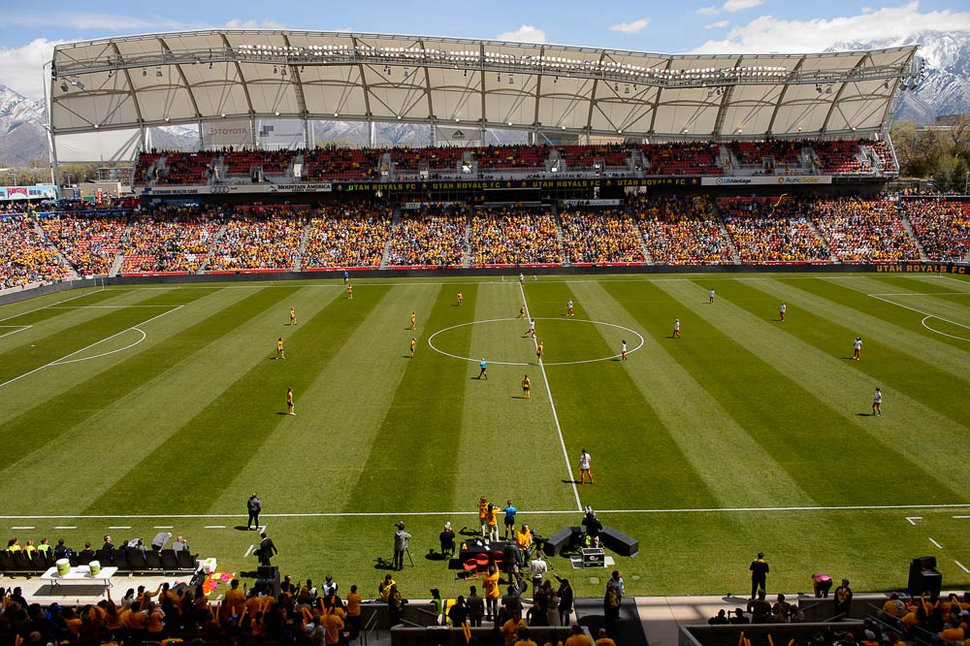 (Trent Nelson | The Salt Lake Tribune) According to Money magazine, Rio Tinto Stadium and the teams that play there — Real Salt Lake and Utah Royals FC — contribute to making Sandy the 35th-best place to live in America.