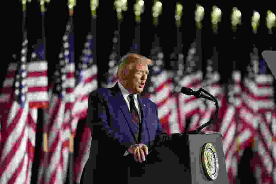 Trump accepts Republican renomination on huge White House stage