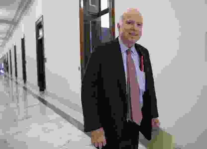 Battling brain cancer, McCain says his prognosis is 'pretty good'