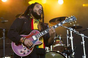 (Rick Egan  |  The Salt Lake Tribune)    Stephen Marley plays the Reggae Rise Up Festival at the Rivers Edge in Heber City, Friday, Aug. 24, 2018.