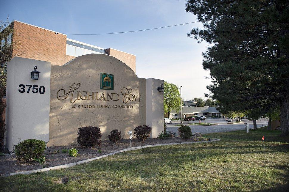 (Chris Samuels | The Salt Lake Tribune) The entrance to Highland Cove Retirement Community in Millcreek, April 27, 2020.