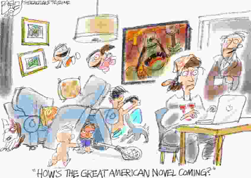 Bagley Cartoon: 'Working From Home
