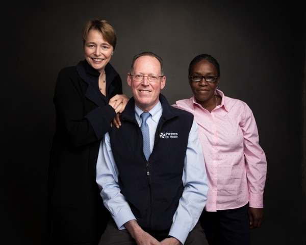 Ophelia Dahl, from left, Dr. Paul Farmer and Adeline Mercon pose for a portrait to promote the film,