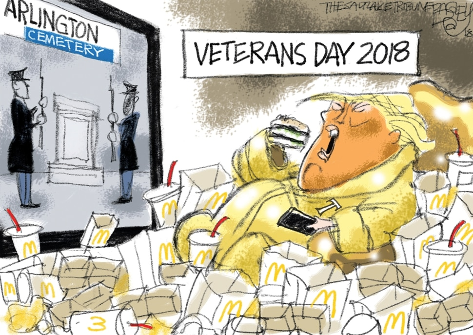 "(Pat Bagley | The Salt Lake Tribune) This Pat Bagley cartoon, titled ""Executive Time,"" appears in The Salt Lake Tribune on Tuesday, Nov. 13, 2018."