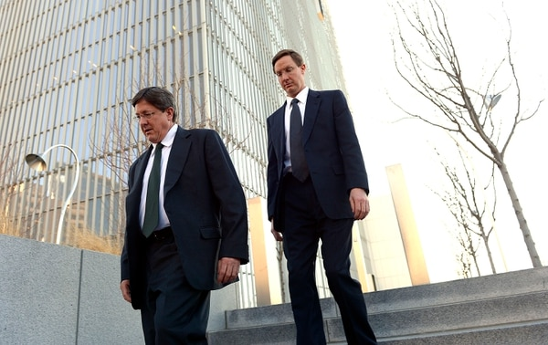 Leah Hogsten   The Salt Lake Tribune l-r Lyle Jeffs, believed to be the FLDS bishop in Hildale, Utah, and Colorado City, Arizona, and Nephi Jeffs appeared in U. S. District Court in Salt Lake City, Wednesday, January 21, 2015. Both men, who are Warren Jeffs' brothers, have been served subpoenas in a U.S. Department of Labor lawsuit against Paragon Contractors, that provided labor for the Southern Utah Pecan Ranch near Hurricane. Both businesses are owned by members of the FLDS. Labor department investigators, according to court documents, believe that as many as 1,400 school-age children and their parents participated in the harvest.