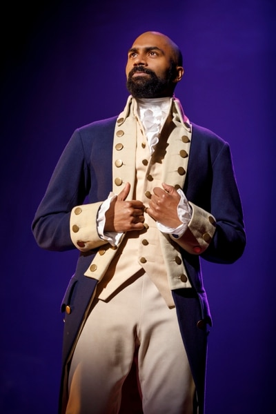 (Courtesy photograph by Joan Marcus) | Nik Walker as Aaron Burr on the Phillip tour of the musical Hamilton, which will play Salt Lake City April 11-May 6.