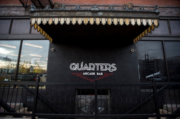 (Rick Egan | The Salt Lake Tribune) The Quarters Arcade Bar soon opening on 400 south was originally The Manhattan Club.